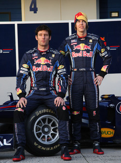 Mark Webber, Red Bull Racing en Sebastian Vettel, Red Bull Racing