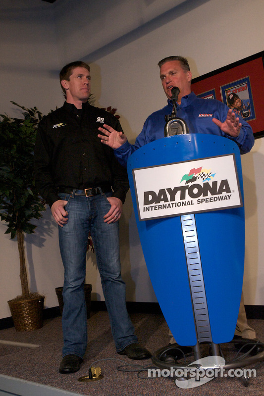 Subway persconferentie: Carl Edwards, Roush Fenway Racing Ford