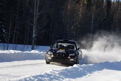 Mads Ostberg and Jonas Andersson, Subaru Impreza WRC 08