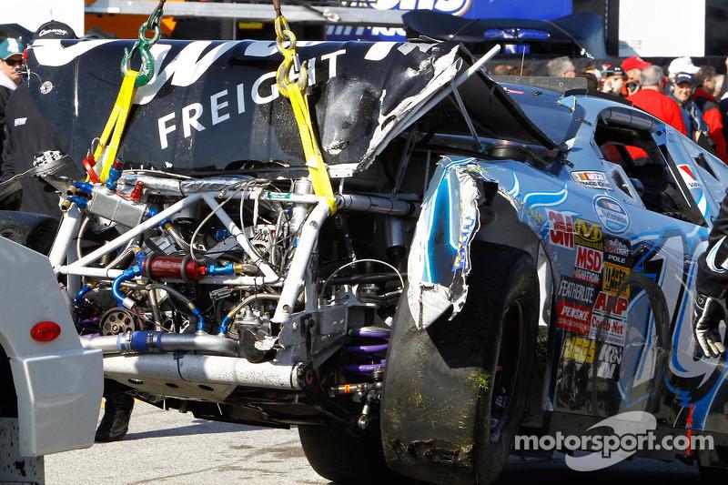 Auto van Colin Braun meegenomen naar de garage