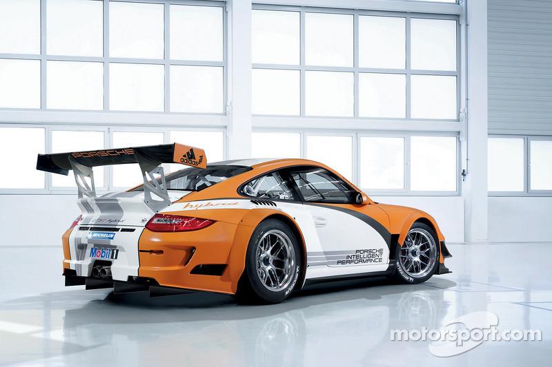 Rendering of the new Porsche 911 GT3 R Hybrid
