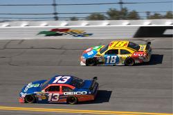 Max Papis, Germain Racing Toyota and Kyle Busch, Joe Gibbs Racing Toyota