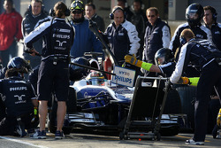 Nico Hulkenberg, Williams F1 Team, practice pitstops