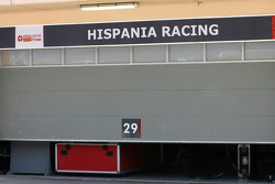 Hispania Racing F1 Team garage
