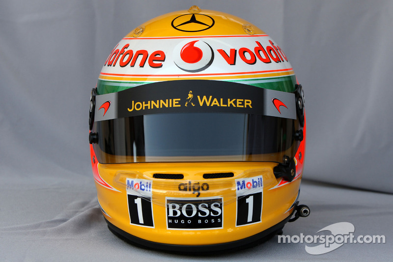 Casco de Lewis Hamilton, McLaren Mercedes