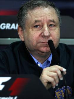 FIA press conference, Jean Todt, FIA president