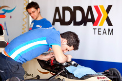 Barwa Addax Team mechanics prepare the cars
