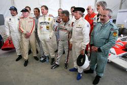 John Surtees, 1964 F1 World Champion, Jody Scheckter, 1979 F1 World Champion, Mario Andretti, 1978 F1 World Champion, Sir Jackie Stewart, 1969, 1971, 1973 F1 World Champion, Damon Hill, 1996 F1 World Champion, Nigel Mansell, 1992 F1 World Champion