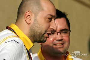 Lotus Renault owner Gerard Lopez and team principal Eric Boullier