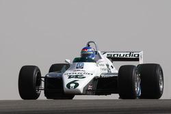 Keke Rosberg, 1982 F1 World Champion drives the 1982 Williams FW08