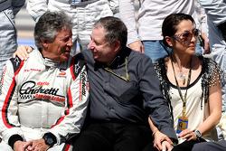 Mario Andretti, 1978 F1 World Champion, Jean Todt, FIA president, Michelle Yeoh, ex. James Bond girl, actor, Girlfriend of Jean Todt