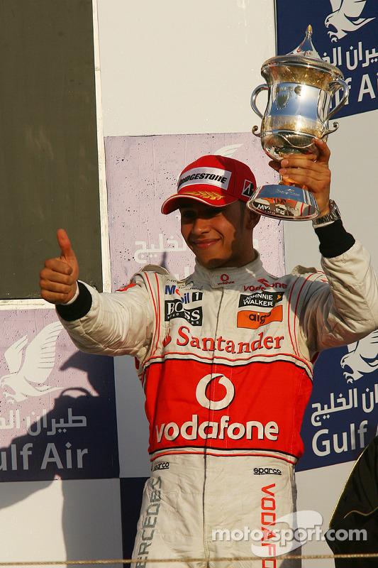 Podium: 3de Lewis Hamilton, McLaren Mercedes