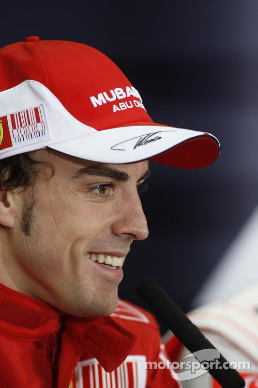 Persconferentie: winnaar Fernando Alonso, Scuderia Ferrari