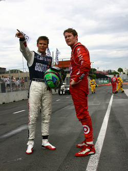 Dan Wheldon, Panther Racing and Scott Dixon, Target Chip Ganassi Racing
