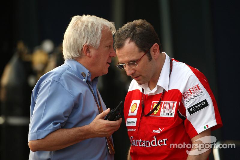 Charlie Whiting, FIA Safty delegate, Race director & offical starter, Stefano Domenicali Ferrari General Director