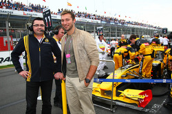 Eric Boullier, Team Principal, Renault F1 Team with Ian Thorpe 5 times Olympic gold medalist