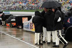 Rain falls on Martinsville Speedway