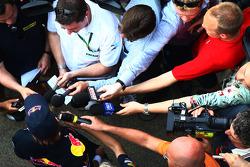 Sebastian Vettel, Red Bull Racing press conference
