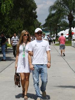 Vivian Sibold the girlfriend of Nico Rosberg, Mercedes GP and Nico Rosberg, Mercedes GP