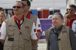 Podium: Jean Todt, President de la FIA, et Prince Feisal