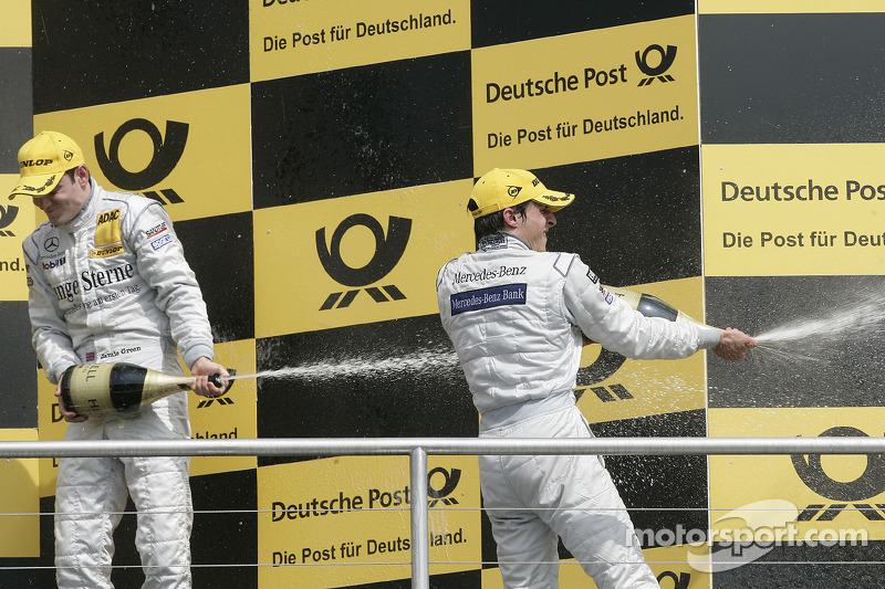 Podium: 2de Bruno Spengler, Team HWA AMG Mercedes C-Klasse, 3de Jamie Green, Persson Motorsport, AMG Mercedes C-Klasse