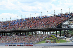 Empty spots in the grandstands