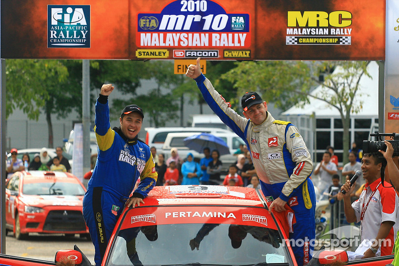 Derde plaats, Rifat Sungkar, Scott Beckwith, Pertamina Rally Team