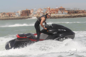 Colin Edwards, Monster Yamaha Tech 3 has fun in the water