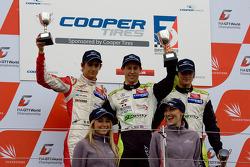 Innvotation class podium: Esteban Gutierrez, Alexander Simms and Jim Pla