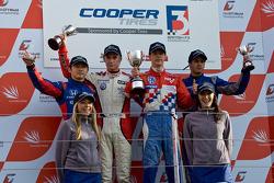 Podium: Daisuke Nakajima, Oli Webb, James Calado and Felipe Nasr