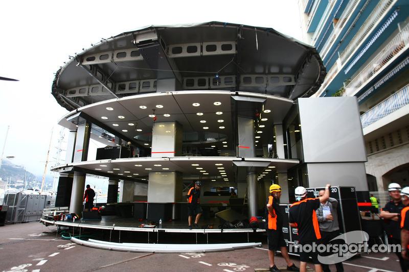 Mclaren Motorhome At Monaco Gp