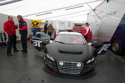 Audi Sport Team Abt Sportsline paddock area