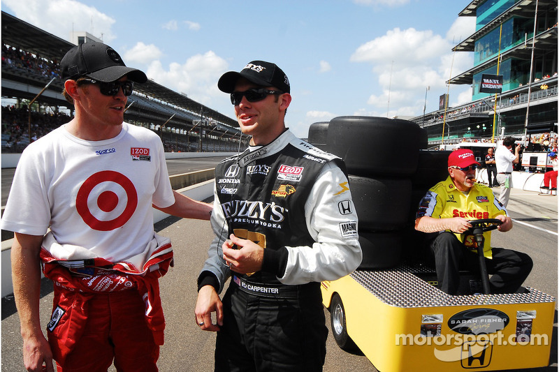 Scott Dixon, Target Chip Ganassi Racing en Ed Carpenter, Panther Racing