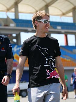 Vitantonio Liuzzi, Force India F1 Team walks the circuit