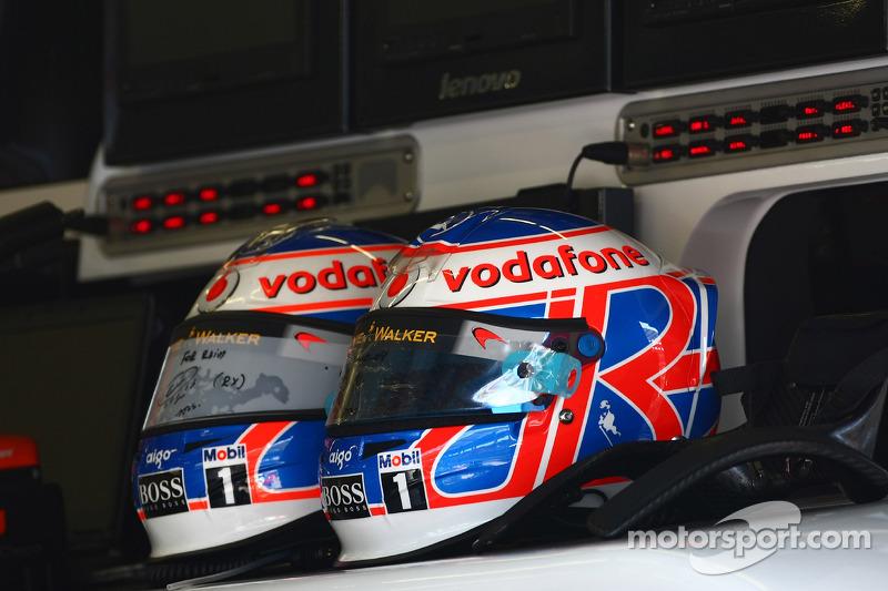 Casque de Jenson Button, McLaren Mercedes