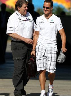 Michael Schumacher, Mercedes GP, Norbert Haug, Mercedes, Motorsport chief