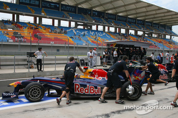 The pitlane at Istanbul Park