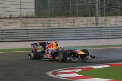 Mark Webber, Red Bull Racing and Sebastian Vettel, Red Bull Racing crash