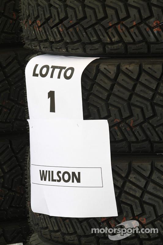 Pirellis voor Matthew Wilson