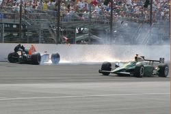Choque de Sebastian Saavedra, Bryan Herta Autosport