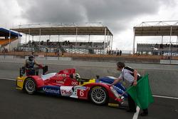 #6 AIM Team Oreca Matmut Oreca AIM: Soheil Ayari, Didier Andre, Andy Meyrick pushed back on pit lane