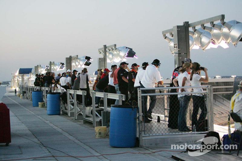 Spotters op  Texas Motor Speedway
