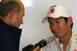 Peter Sauber, BMW Sauber F1 Team, Team Owner and Kamui Kobayashi, BMW Sauber F1 Team