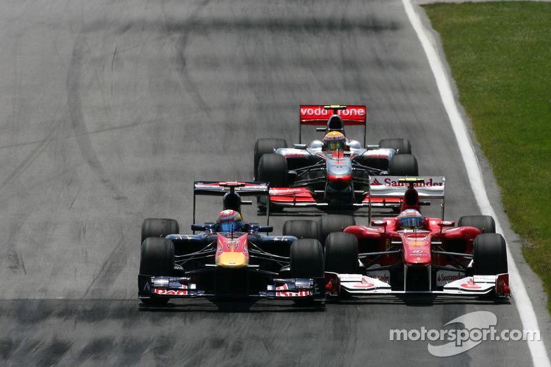 Sebastien Buemi, Scuderia Toro Rosso en Fernando Alonso, Scuderia Ferrari