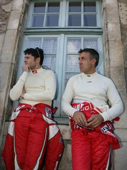 Giancarlo Fisichella and Jean Alesi