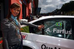 Augusto Farfus, BMW Team Germany, BMW 320si - his wife Liri
