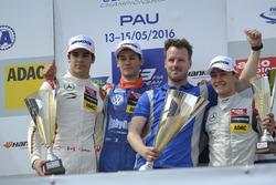 Podium, Lance Stroll  Prema Powerteam Dallara F312 – Mercedes-Benz, Alessio Lorandi  Carlin Dallara F312 – Volkswagen, George Russell  HitechGP Dallara F312 – Mercedes-Benz
