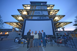 Bobby Unser joins Matt Brabham, Doug Boles and film director David Anspaugh for a screening of the film Winning at the Indianapolis Motor Speedway