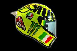 Nieuwe helm van Valentino Rossi, Yamaha Factory Racing