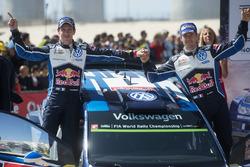 المركز الثالث سيباستيان أوجييه وجوليان إنغراسيا، فولكسفاغن بولو دبليو آر سي، فولكسفاغن موتورسبورت